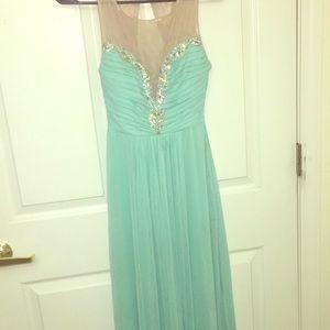 Turquoise rhinestone dress